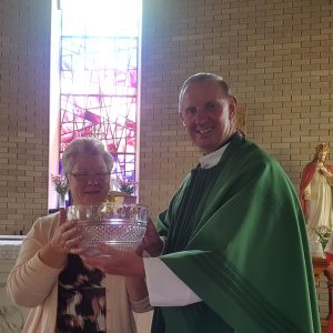 Presentation to Peg Keogh, Sacristan