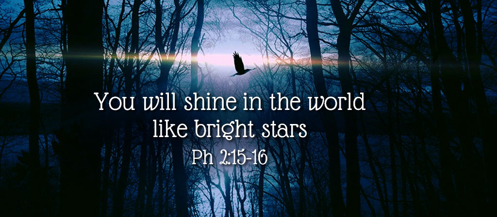 We need to shine in the world